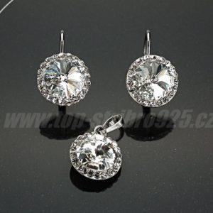 Souprava rhodiovaná Swarovski Crystal