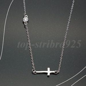 Jemný náhrdelníček s křížkem a zirkonem