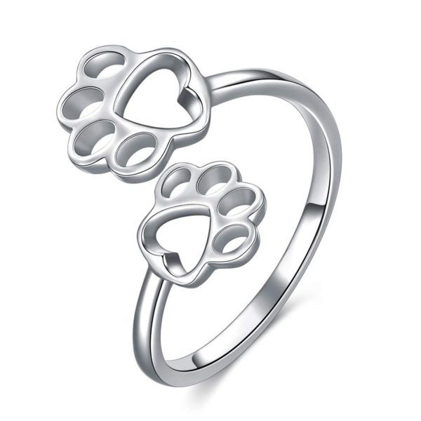 Stříbrný prsten tlapky