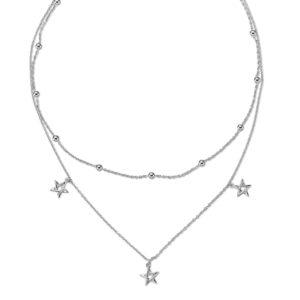 Stříbrný dvojitý náhrdelník
