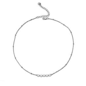 Stříbrný náhrdelník s kolečky a kuličkami